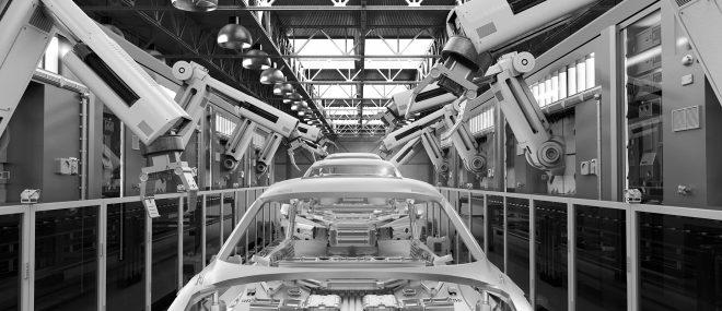 Car manufacturing floor